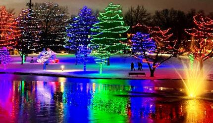 Sar-Ko Aglow Lenexa Christmas Lights Display REALTOR Morgan Lang